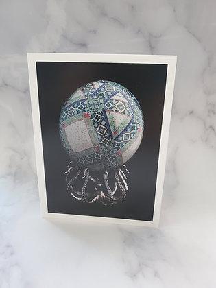 Ostrich Egg Art Card