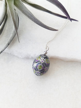 Real Budgie Egg Necklace