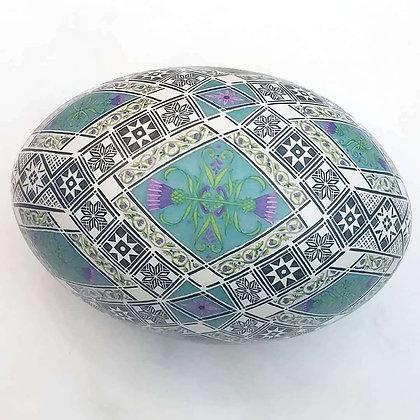 Scottish thistles Rhea egg