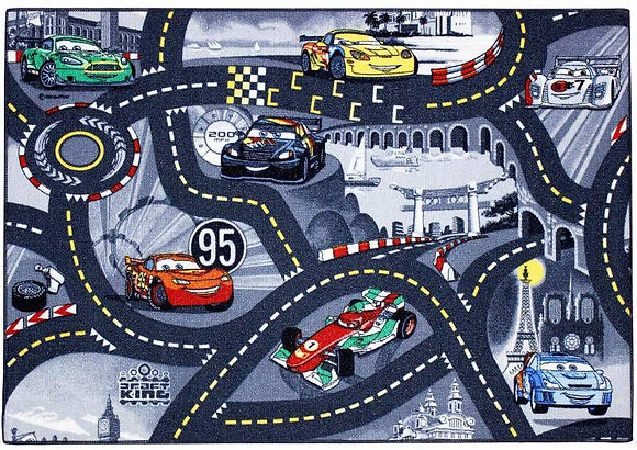 Vloerkleed World of Cars 95x133cm