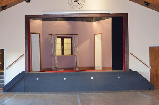 The stage ready for a performance