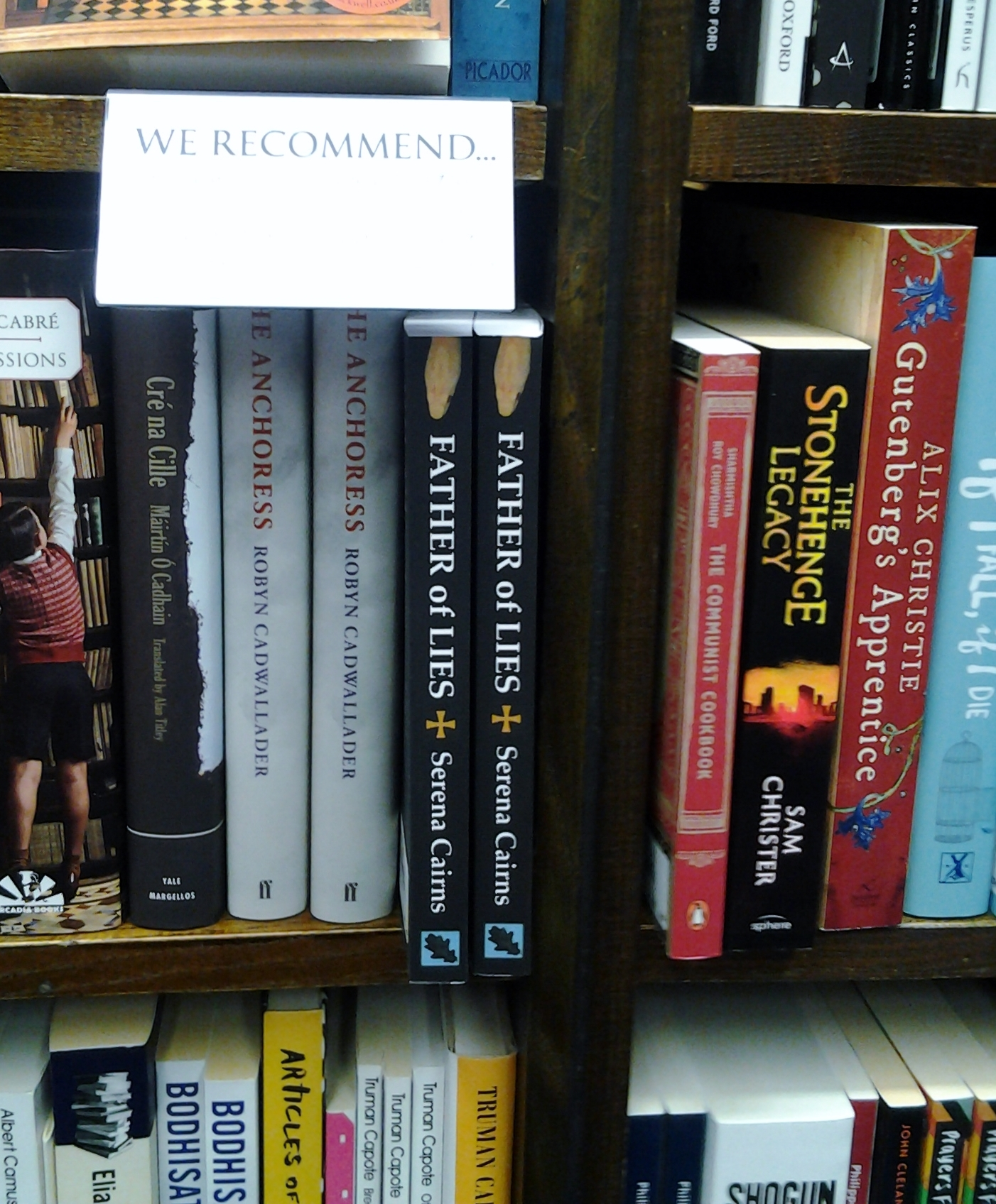 My book in Heffers, Cambridge,