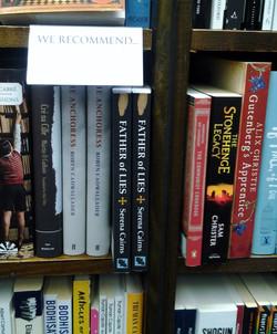 My book in Heffers, Cambridge,