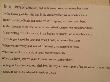 At a memorial service for a young friend and coaching client, read this prayer poem my sis sent me.