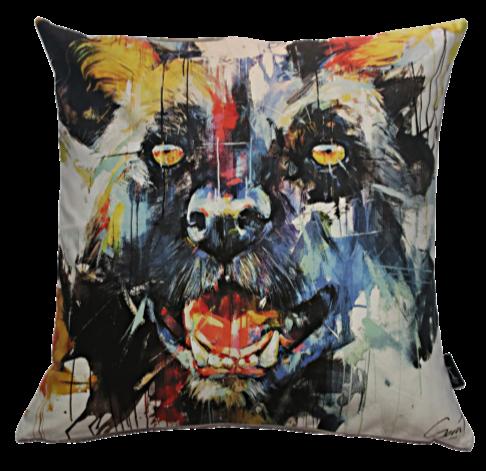 Gerart Wild Dog Pillow