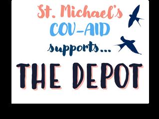 St. Michael's COV-AID -kampanjan ensimmäinen lahjoitus The Depot:lle