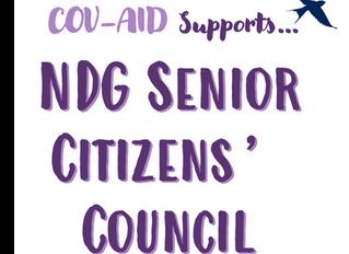 NDG:n senioriasukkaille tukea COV-AID -kampanjalta