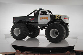 Bill Ferrell Co. turntable displays a monster truck