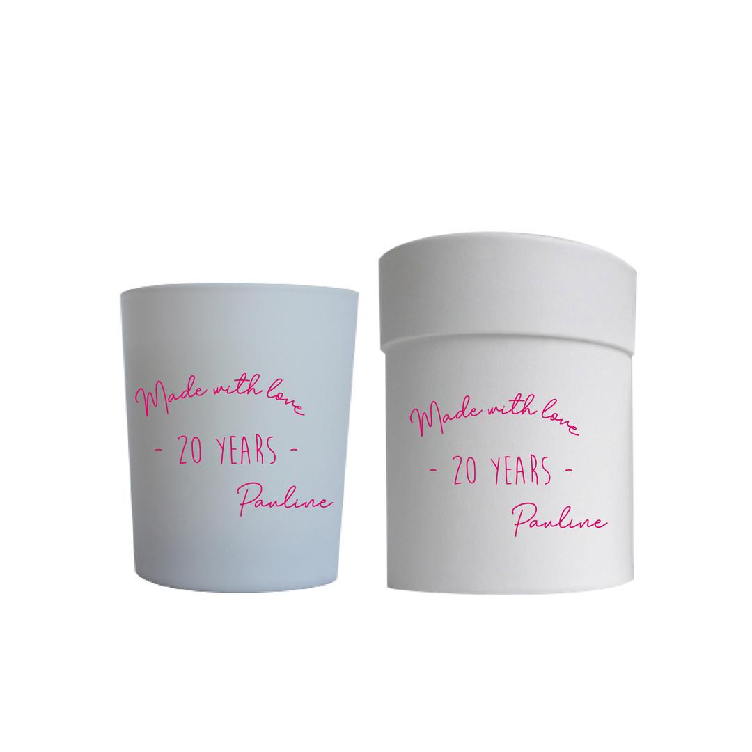 Bougies et boites personnalisées
