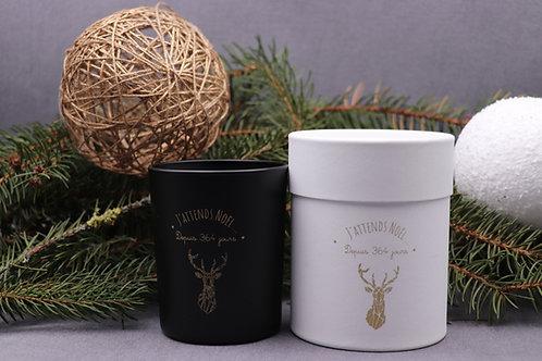 """Bougie parfumée roi des forêts """" j'attends Noël.."""""""