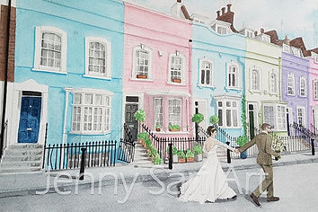Watercolour, Bywater Street, London