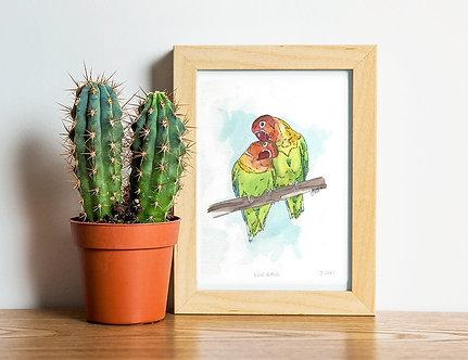 A5 - Love Birds Print