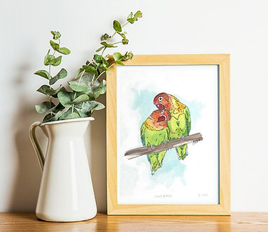 A4 - Love Birds Print