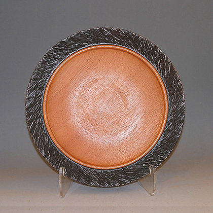 Mahogany Plate with Carved Rim Item 409
