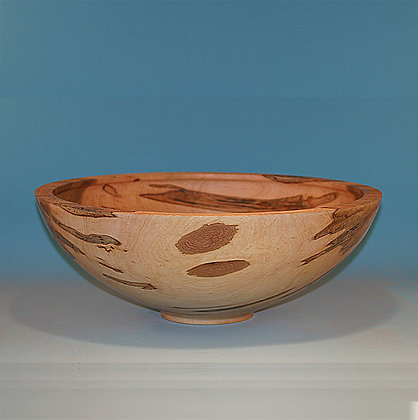 Large Maple Bowl With Textured Rim #485