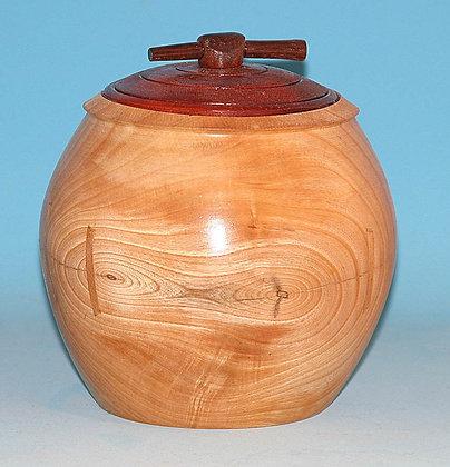 Maple Bowl with Padauk Lid  Item 502