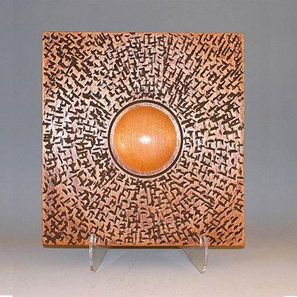 """Mahogany Plate: """"Ancient Cultures"""" Item 406"""