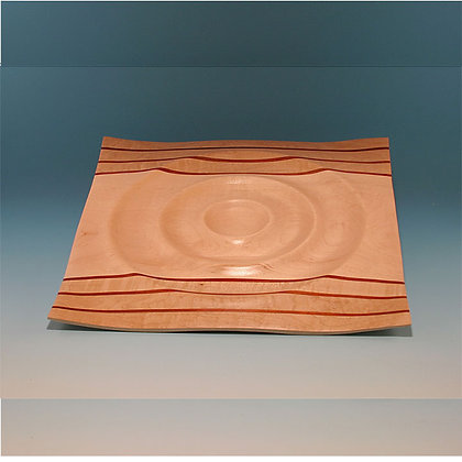 """Ripples"" Large square Maple Plate Item 418"