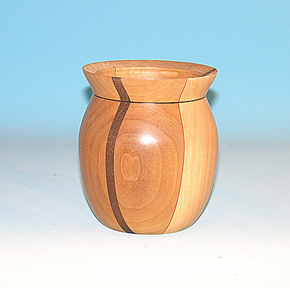 Bowl with walnut and red stripes. Item 500
