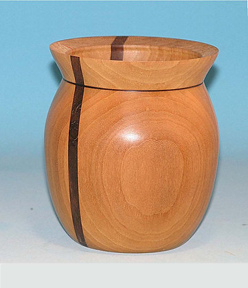 Cherry Bowl with Walnut Stripe Item 500