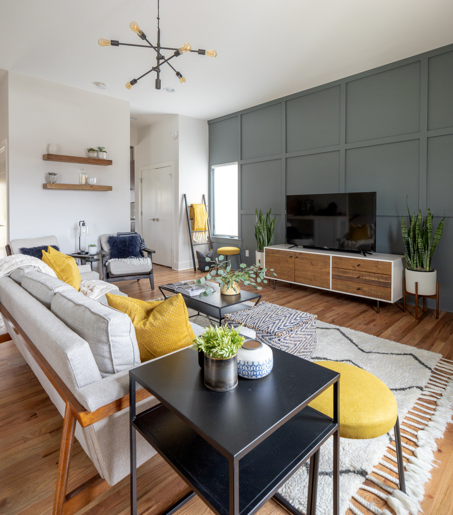 Trendy Trinhberlake Accent Wall Interior Design