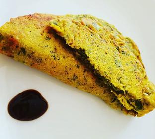 Spinach Coriander Puda (Vegan)