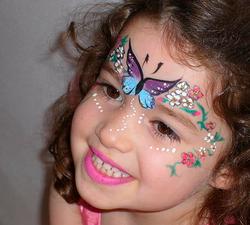 Pintura de rosto infantil