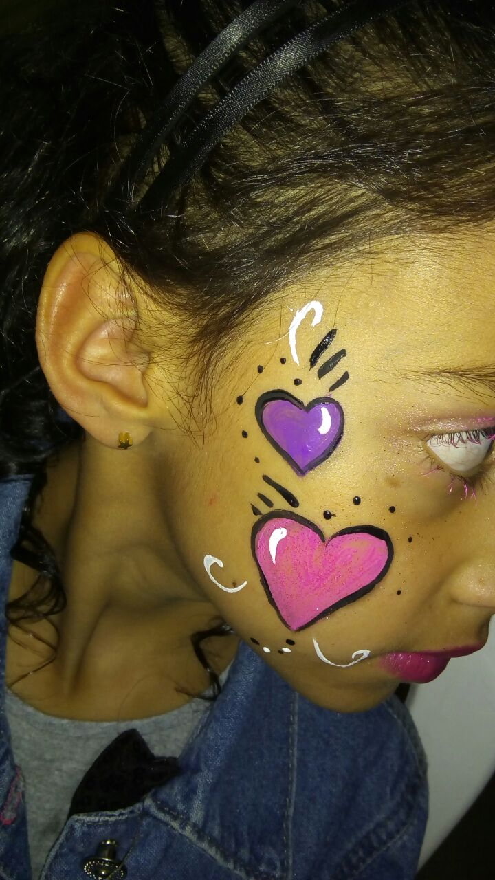 coração no rosto