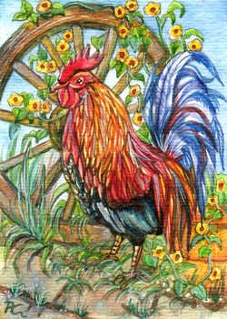 Rooster By Wheelgarden