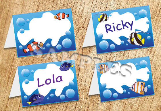 Tropical Fish Tent Card