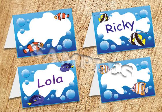 Tropical Fish Tent Card