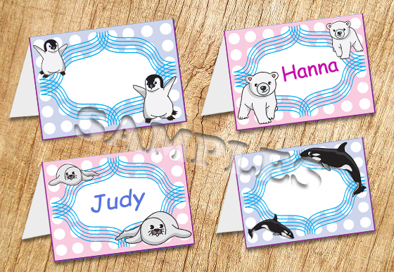 Arctic Animals Tent Card