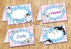 Arctic Animals Tent Card