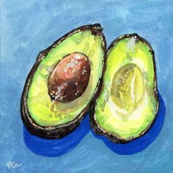 Still Life Study on Avocado