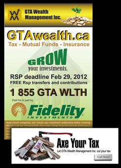 GTA Wealth Banner, Flyer