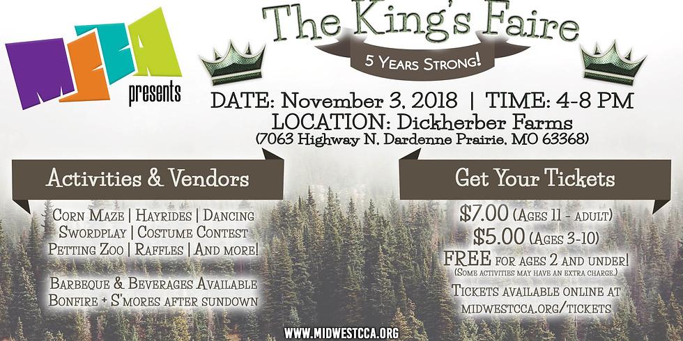 The 5th Annual MCCA King's Faire