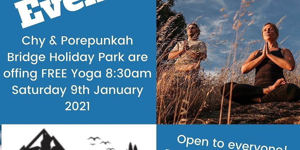 Free Yoga Event Porepunkah Bridge Caravan Park