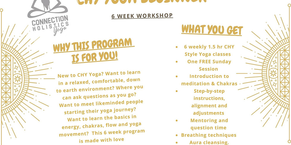 6 Sessions CHY Beginner Workshop