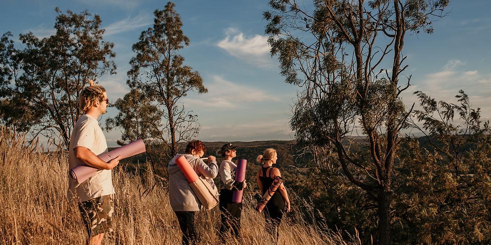 Hiking Yoga Meditation and Magnificent Sunset