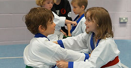 Young children training at Budo Warrior Schools