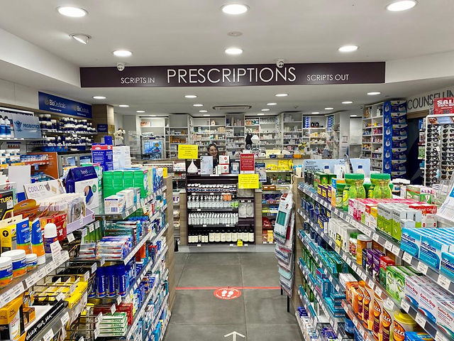 Cremorne Town Centre Pharmacy interior