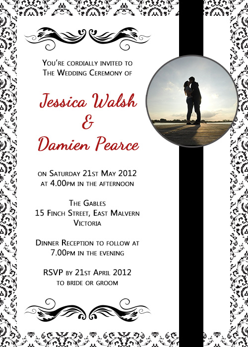 Wedding Invite - black illustration