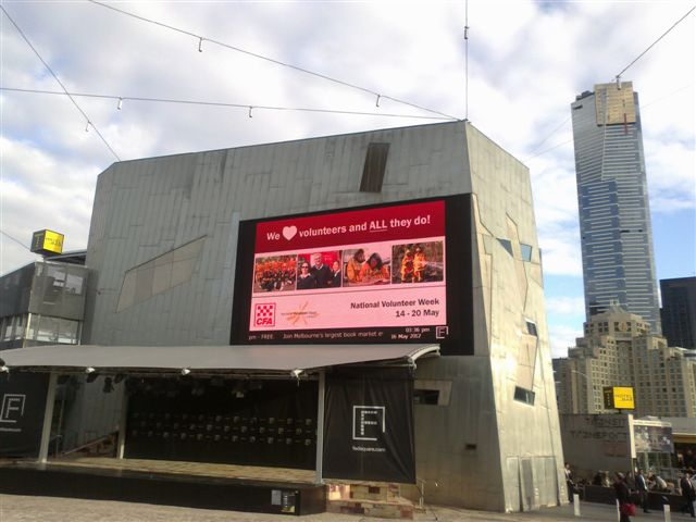 Fed Square Big Screen 2012