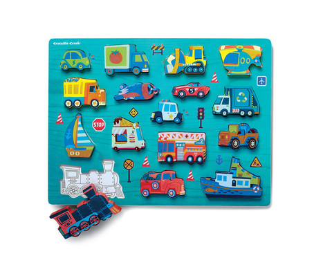 Let's Play 16 pc. Wood Puzzle - Things T