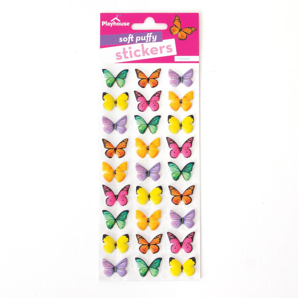 Soft Puffy Stickers STP-7011-Butterflies