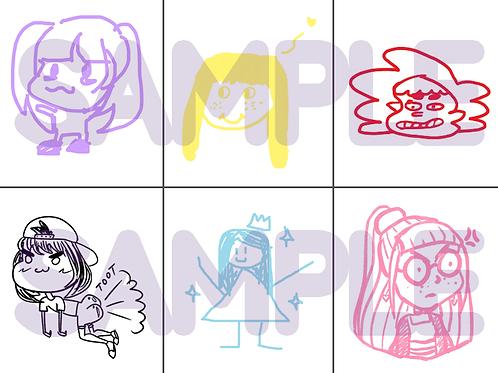Member Stickers - Scribble