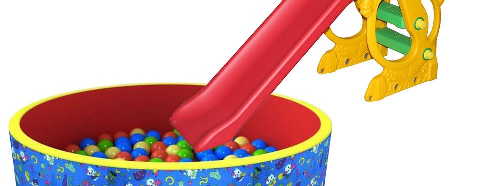 """Горка """"Бегемот"""" + бассейн с шариками"""