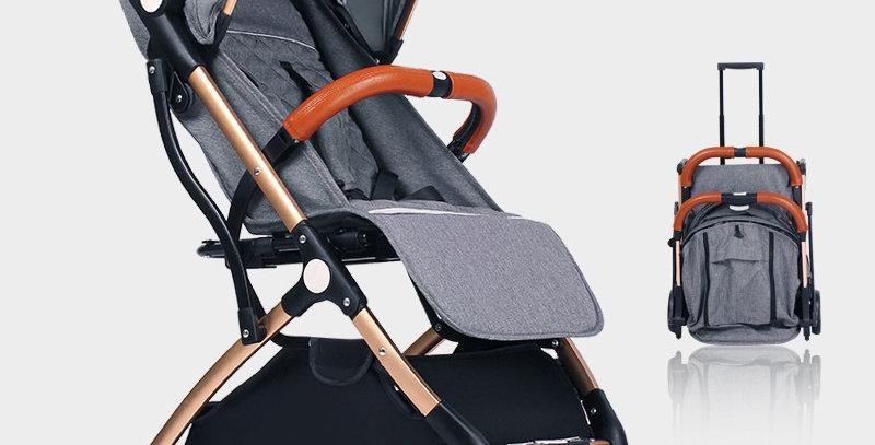 Коляска-чемодан Tianrui (серый)