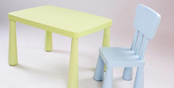 Стол и стул Mammut комбинированный цвет