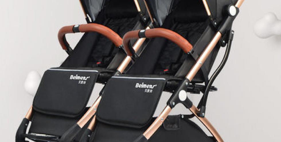 Коляска  для двойни Belmont черный